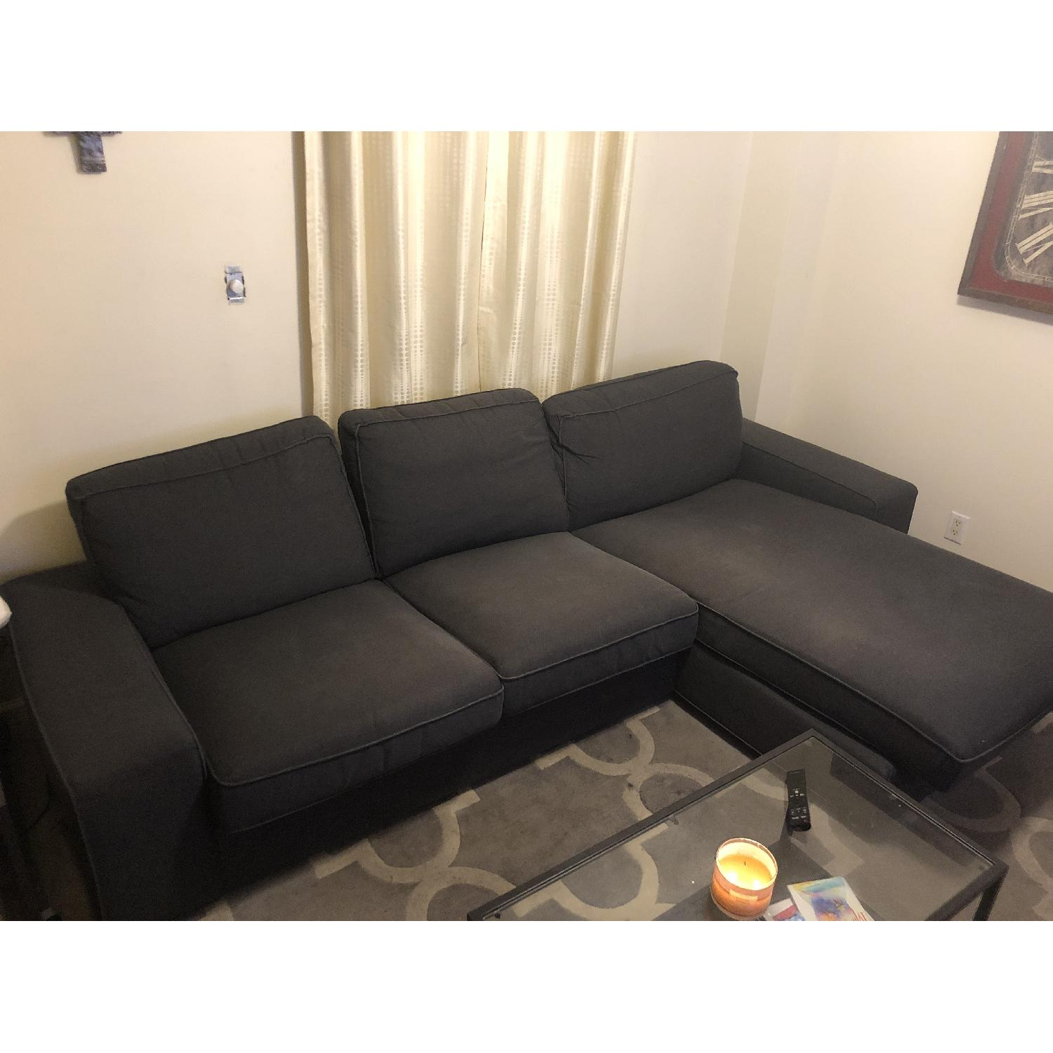 ... Ikea Kivik Sectional Sofa W/ Chaise In Dark Blue/Grey 0 ...