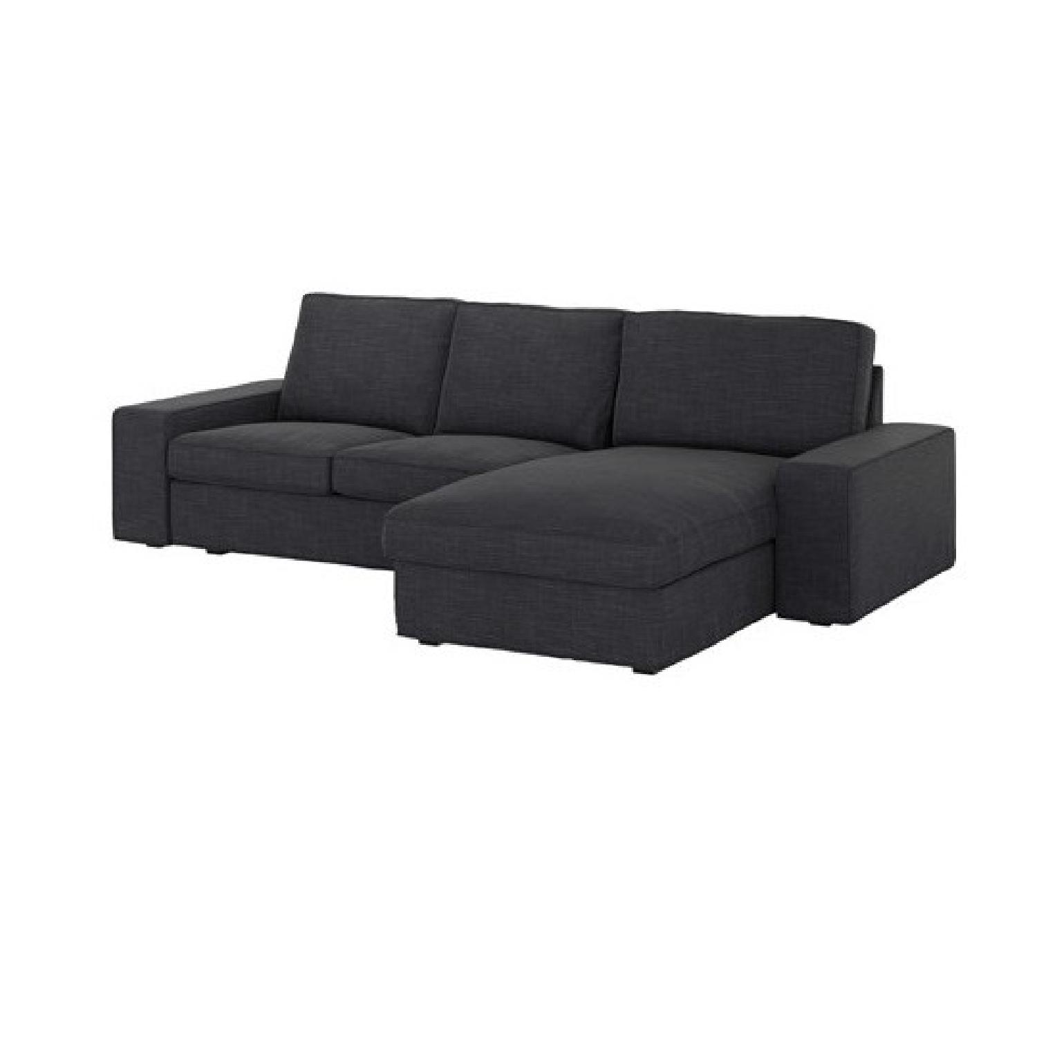 Ikea Kivik Sectional Sofa W/ Chaise In Dark Blue/Grey ...