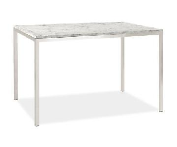 Room & Board Portica Dining Table w/ White Venatino Marble