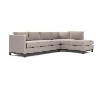 Mitchell Gold + Bob Williams Clifton Sectional Sofa in Ivory