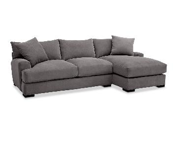 Macy's Rhyder 2-Piece Fabric Sectional Sofa w/ Chaise