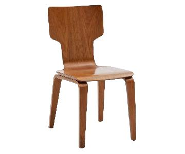 West Elm Modern Stackable Wood Chair