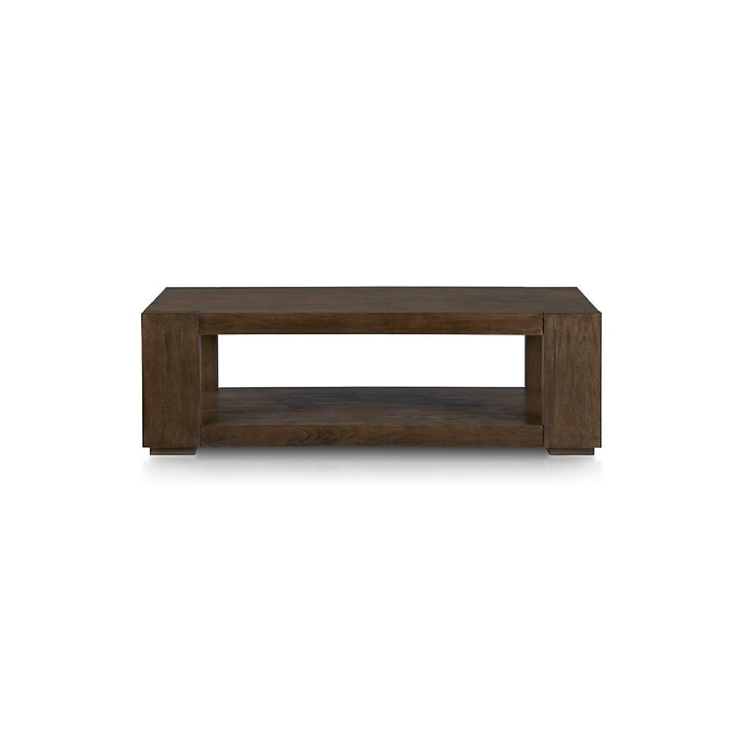 Crate & Barrel Lodge Coffee Table + End Table