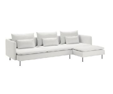 Ikea Soderhamn White 2-Piece Sectional Sofa