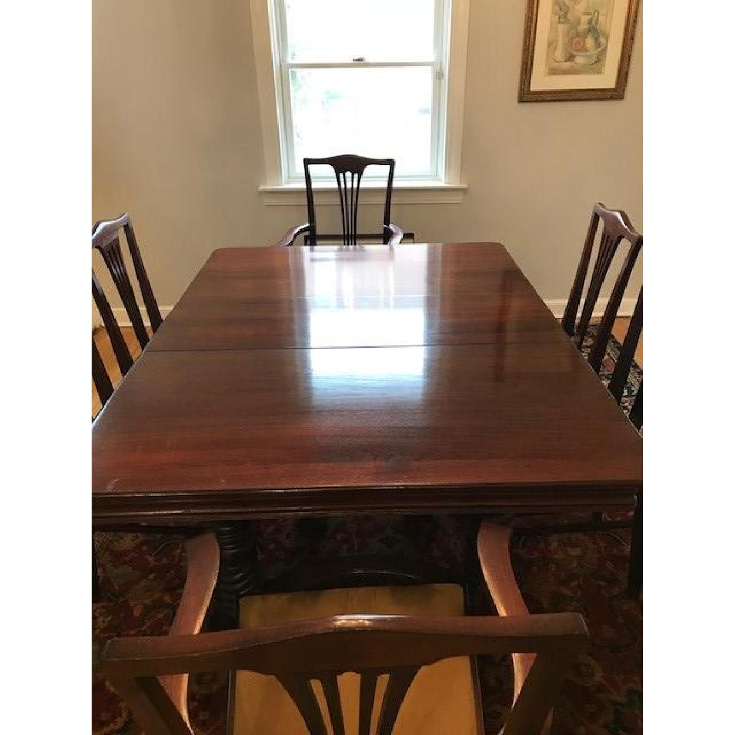 ... Vintage Expandable Mahogany Dining Table W/ 6 Chairs 0 ...