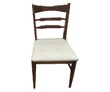 Vintage Mid Century Modern Bowtie Dark Wood Dining Chairs