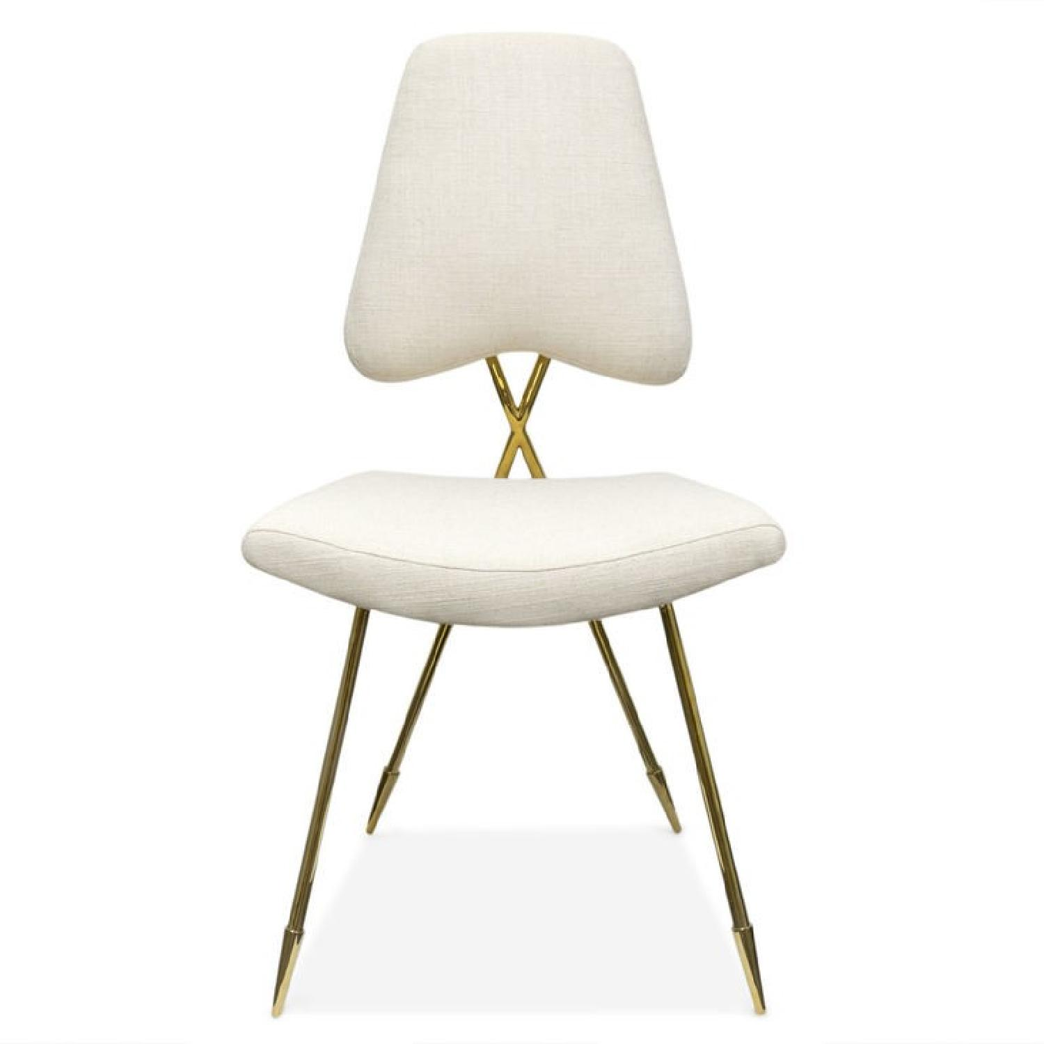 Jonathan Adler Maxime Dining Chairs in Stone Linen
