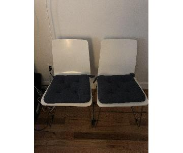 CB2 Echo White Dining Chairs