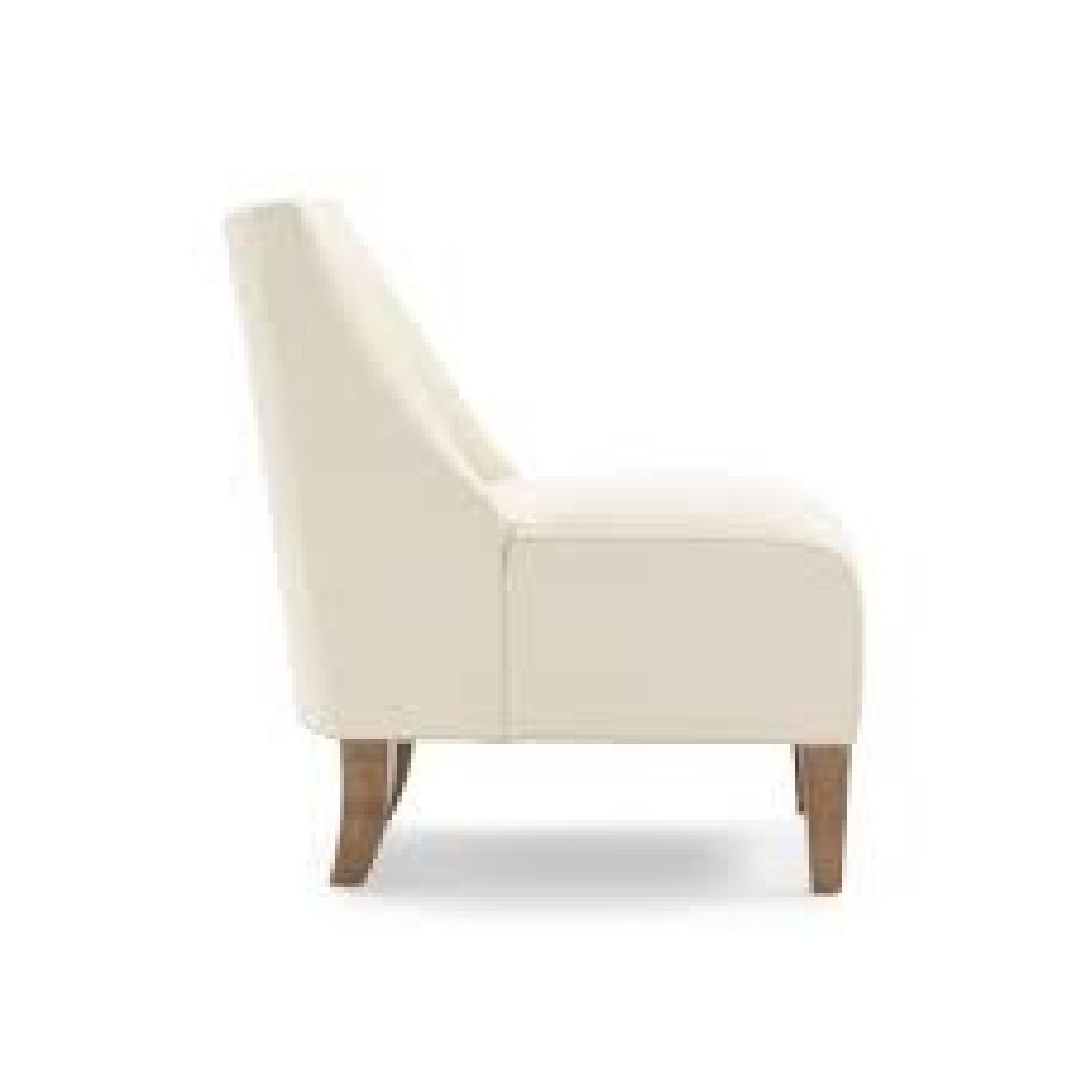 ... Mitchell Gold + Bob Williams Iris Leather Armless Chair 0 ...