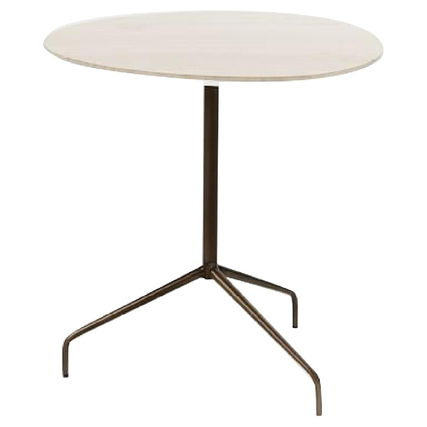 West Elm MarbleTop Olson Side Table AptDeco - West elm marble top coffee table