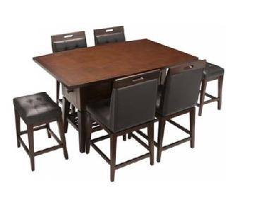 Raymour & Flanigan 7-Piece Counter-Height Dining Set