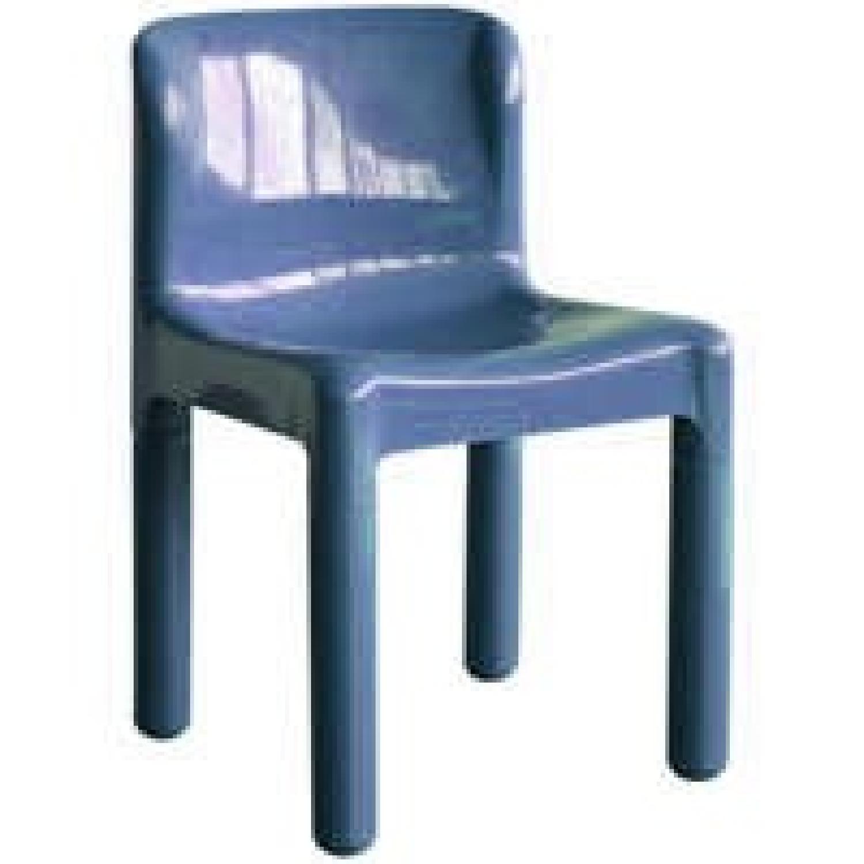 Kartell 4875 Design C Bartoli Chair In Blue ...