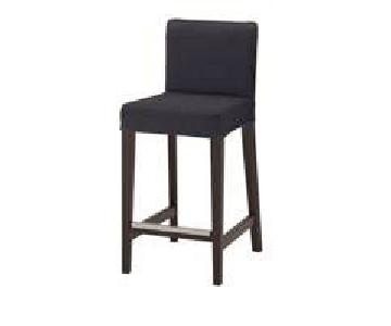 Ikea Henriksdal Dark Grey Bar Stools w/ Backrest