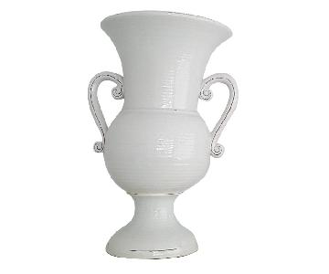 Ceramic Greyish White Vases/Urns