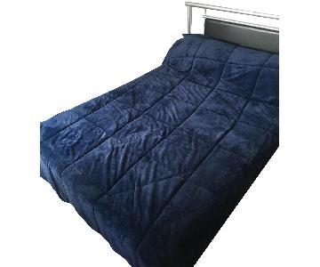Full Size Metal Bed Frame w/ Black Detail