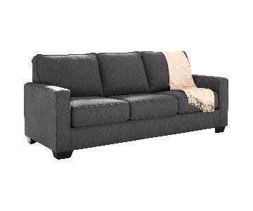 Ashley Zeb Charcoal Queen Sleeper Sofa