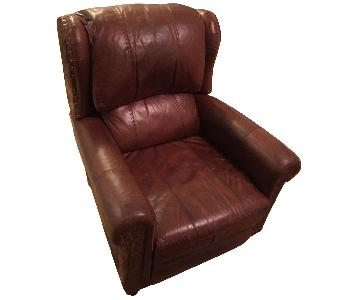 Restoration Hardware Leather & Cowhide Leather Recliner