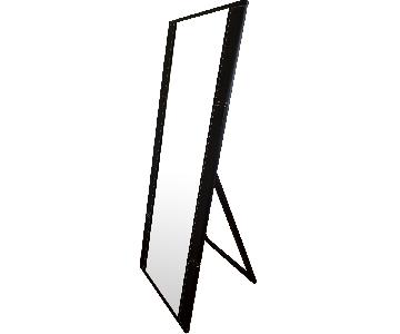 Canal Furniture Standing Leather Detailed Mirror