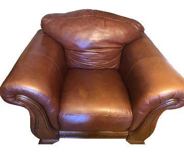 Italiana Divani Chateau d'Ax Brown Leather Armchair
