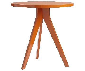 West Elm Orange Tripod Table
