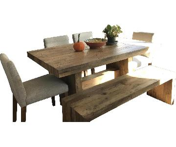 West Elm Emmerson Reclaimed Wood 6-Piece Dining Set