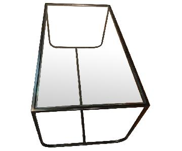 Urban Outfitters Glass & Metal Coffee Table