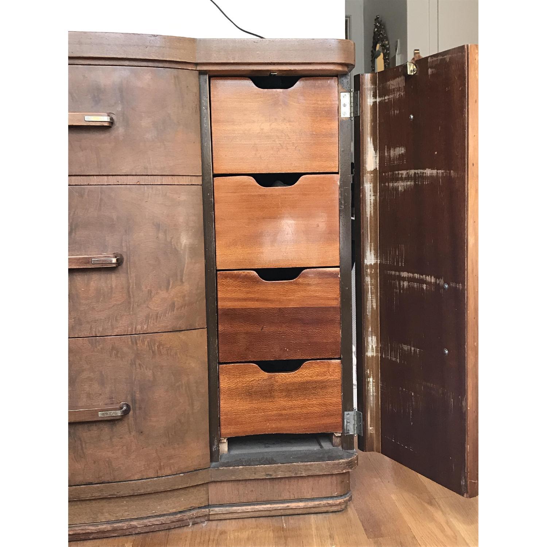 vintage art deco bureau w circular mirror aptdeco. Black Bedroom Furniture Sets. Home Design Ideas