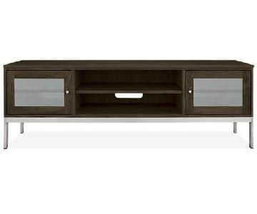Room & Board Black Linear Media Cabinet