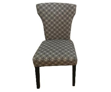Target Gray & White Pattern Dining Room Chairs