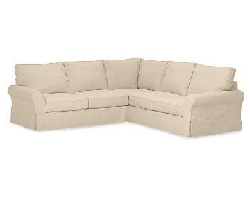 Pottery Barn PB Comfort L Shape 3-Piece Sectional Sofa
