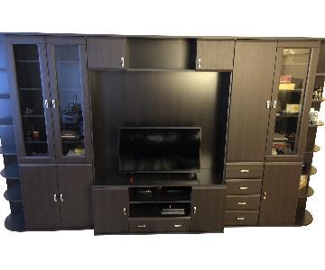 Modern Entertainment Center w/ Storage