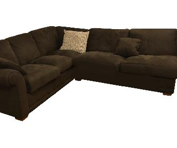 Microsuede 2 Piece Sectional Sofa
