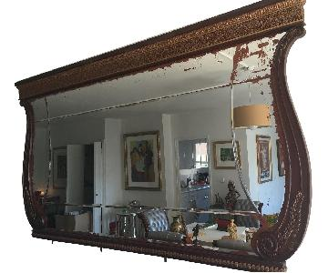 Hardwood Intricate Hand Carved Frame w/ Distressed Mirror