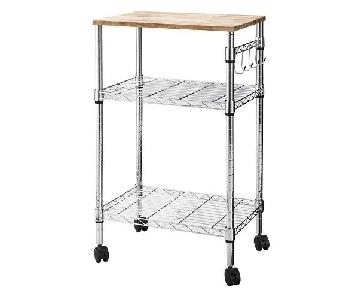 Target Microwave Cart in Chrome