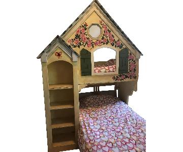 Handmade Treehouse Girls Loft Bed