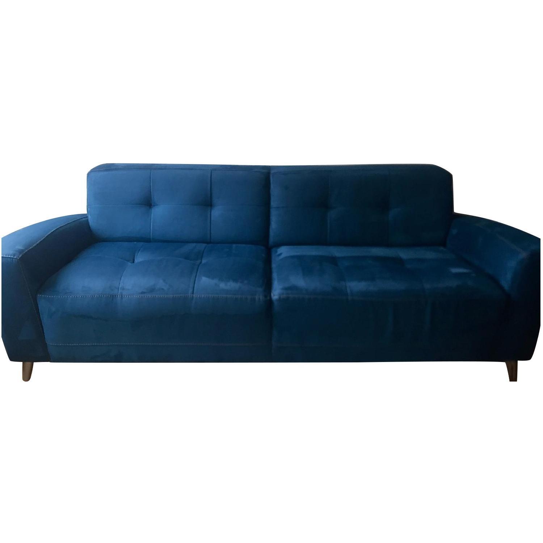 Macyu0027s Pacific Blue Urban Suede Sofa + Matching Arm Chair ...