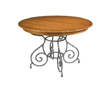 Ethan Allen Brittany Round Dining Table in Rustique Color