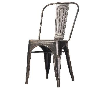 Merax Stainless Steel Stackable Vintage Dining Chairs