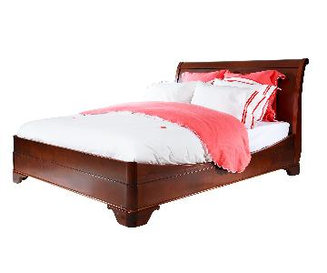 Grange Louis Philippe Solid Cherry Wood Sleigh Bed
