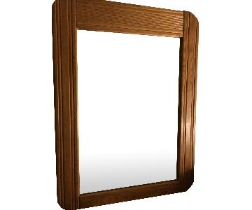 Vintage Wooden Mirror in Maple Finish
