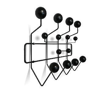 Eames Hang-It-All Wall Coat Rack Replica in Black Wood