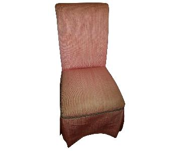 Red Slipcovered Side Chair