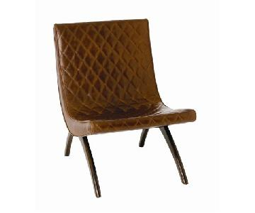 Arteriors Danforth Quilted Leather Lounge Chair
