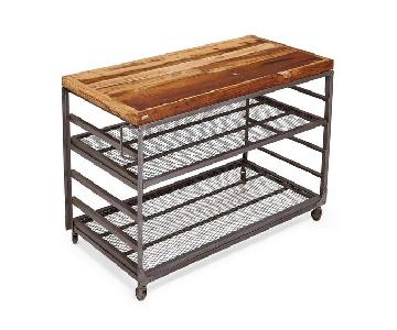 ABC Carpet and Home Flatiron-Weld Wood & Steel Bakers Rack