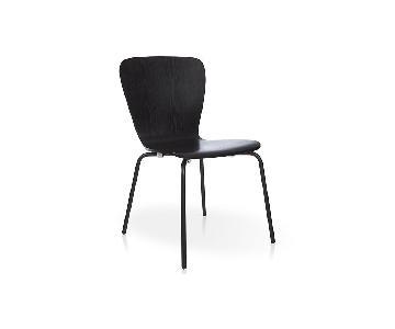 Crate & Barrel Felix Espresso Dining Chairs