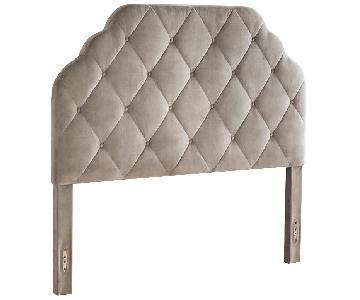 Pier 1 Hayworth Upholstered Headboard in Grey