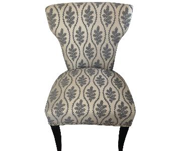 Grey & Beige Toile Accent Chair