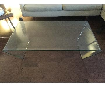 BoConcept Adria Clear Glass Coffee Table