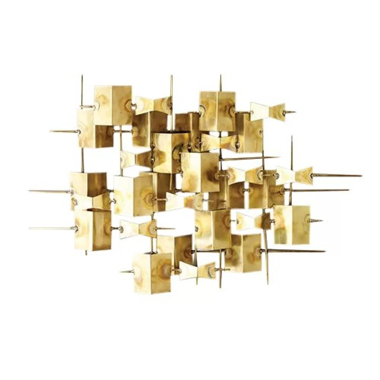 Dwell Studio Folded Brass Wall Decor - AptDeco