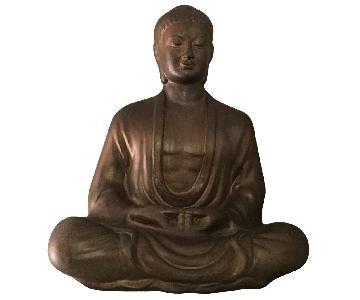 Fine Garden Products Ceramic Meditating Buddha Art Statue
